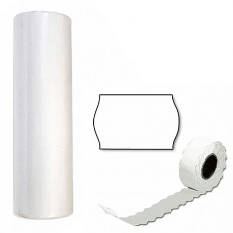 Етикетки-цінники 26х12мм, білі