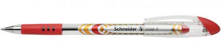 Ручка масляна 0,5мм Schneider Slider Basic F, червона