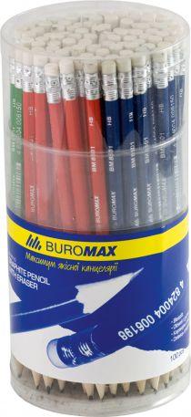 Олівець чорнографітний Buromax BM.8501 НВ