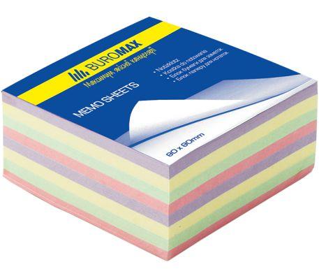 """Блок паперу для нотаток Buromax, 400арк., кольоровий """"Декор"""""""