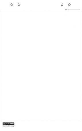 Папір для фліпчарту нелінований Buromax 64х90 см, 20арк.