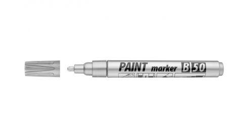 Маркер - лак ICO, 2-4мм, срібний