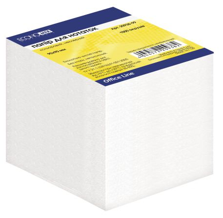Блок паперу для нотаток Economix, 1000арк., білий