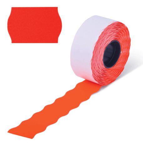 Етикетки-цінники Economix 22х12мм, червоні