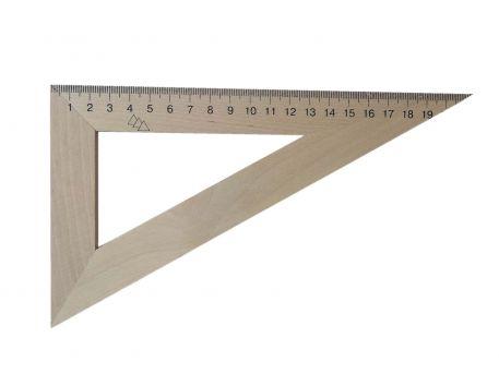 Лінійка 22см, трикутник, дерев'яний