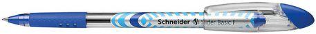 Ручка масляна 0,5мм Schneider Slider Basic F, синя