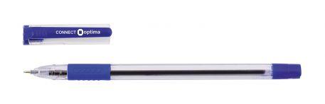 Ручка масляна 0,7мм Optima CONNECT, синя