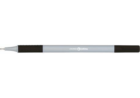 Ручка-лайнер Optima Grippo O15665, чорна