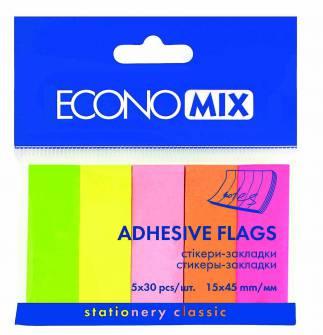 Стикеры-закладки самоклеящиеся Economix, бумажные