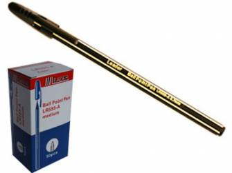 Ручка кулькова 0,7мм Leader LR-555, чорна