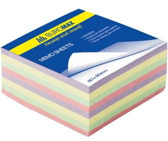 "Блок бумаги для заметок Buromax, 400арк., цветной ""Декор"""