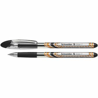 Ручка масляна 0,5мм Schneider Slider Basic F, чорна