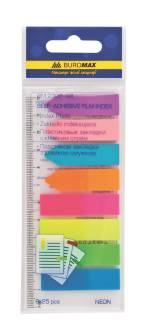 Стикеры-закладки самоклеящиеся Buromax, неоновые