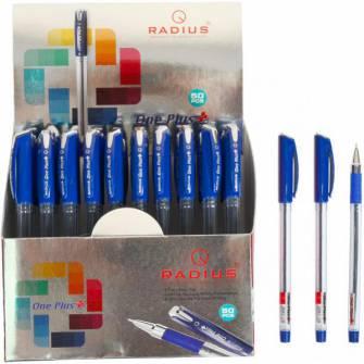 Ручка масляна 0,7мм ONE PLUS, синя