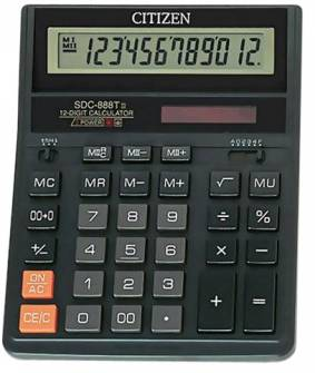 Калькулятор Citizen SDC-888, 12 розрядів