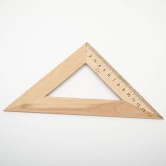 Лінійка 15см, трикутник, дерев'яна
