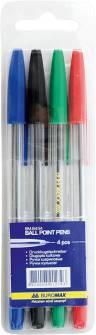 Набір кулькових ручок Buromax, 4шт.