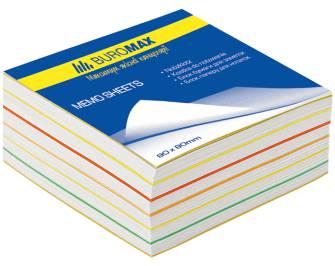"""Блок бумаги для заметок Buromax, 400арк., """"Радуга"""""""