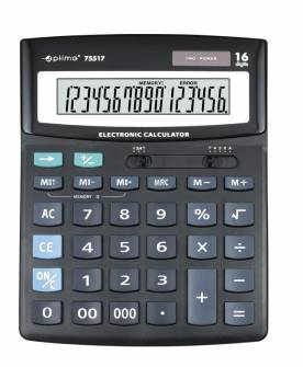 Калькулятор Optima 75517, 16 розрядів