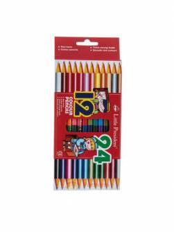 Олівці кольорові Little President 12шт. двосторонні