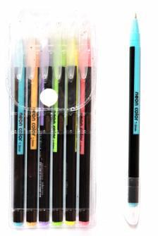 Набір гелевих ручок 6 шт, неонові кольори