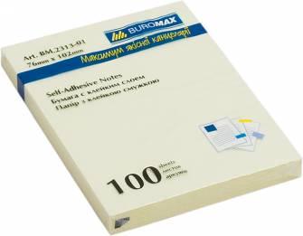 Блок бумаги с клейким слоем Buromax, 100л.