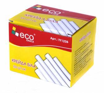 Крейда біла Eco, 100 шт.