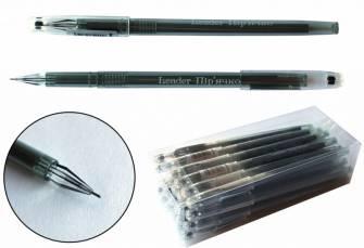 Ручка гелева 0,5мм Leader L8075, чорна