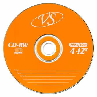 Диск CD-RW VS 700 Mb, 12х