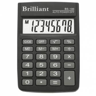 Калькулятор Brilliant BS-100, 8 разрядов