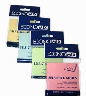 Блок для заміток з клейким шаром Economix, 100арк.