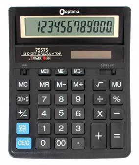 Калькулятор Optima 75575,12 розрядів