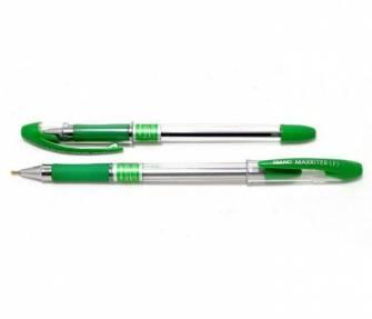 Ручка масляна 0,5мм MAXRITER, зелена