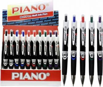 Ручка масляна Piano PT-201, синя