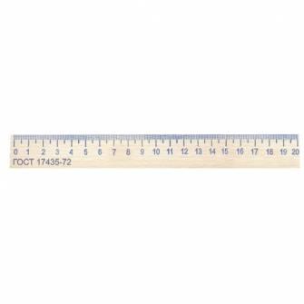 Лінійка 20 см дерев'яна