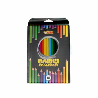Олівці кольорові Tiki 18 шт.