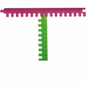 Лінійка-пазл Zibi 40 см пластикова