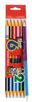 Олівці кольорові Little President 6 шт. двосторонні