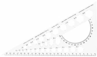 Линейка 25 см, треугольник