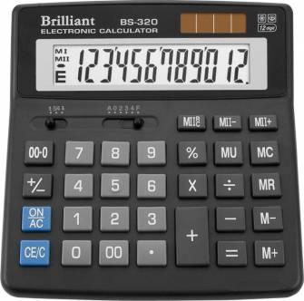 Калькулятор Brilliant BS-320, 12 розрядов