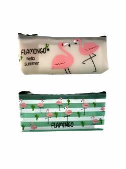 """Пенал-косметичка """"Фламинго на клумбе"""""""