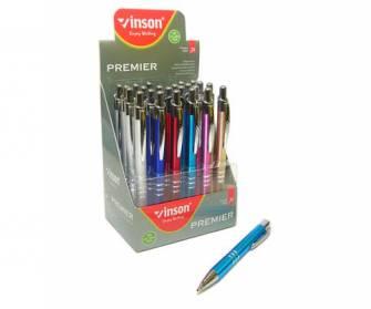 Ручка масляная 0,7 мм Vinsor Premier, синяя