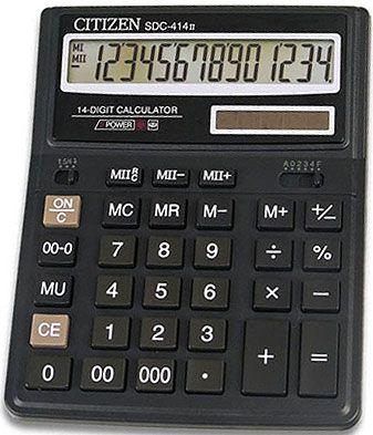 Калькулятор Citizen SDC-444, 12 розрядів