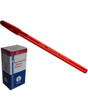 Ручка кулькова 0,7мм Leader LR-555, червона