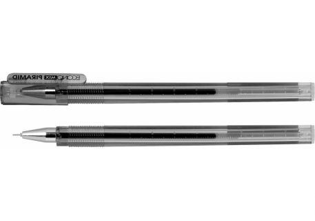 Ручка гелева 0,5мм Economix PIRAMID, чорна