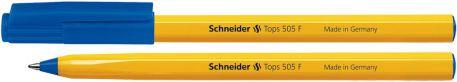 Ручка кулькова 0,5мм Schneider TOPS 505 F, синя