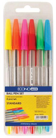 Набір кулькових ручок Economix, 6шт.