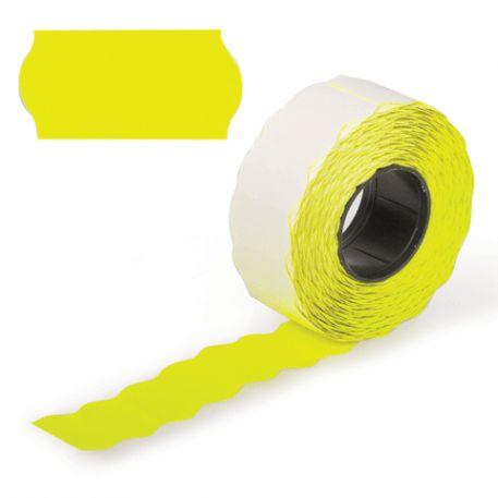 Етикетки-цінники Economix 22х12мм, жовті