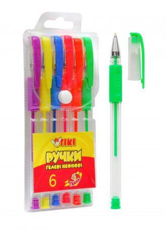 Набір гелевих ручок ТІКІ, 6шт, неон