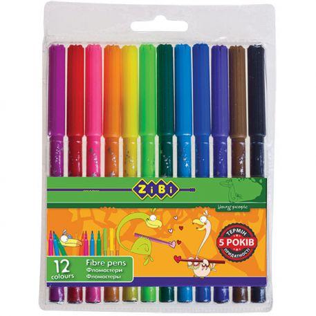 Фломастери Zibi 12 кольорів